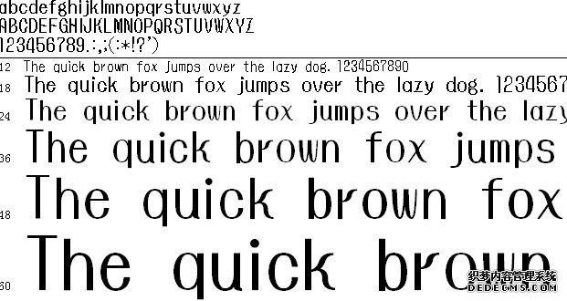 怀流体字体