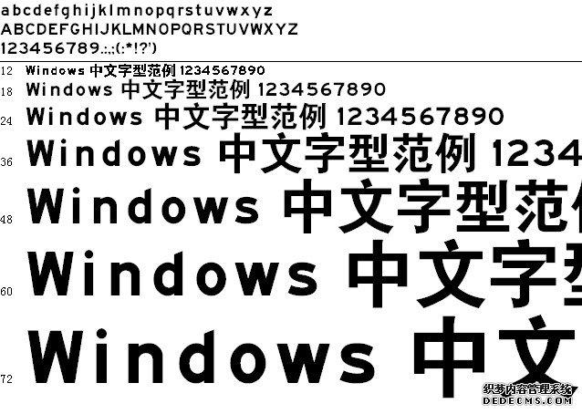 交通标志专用体字体预览图