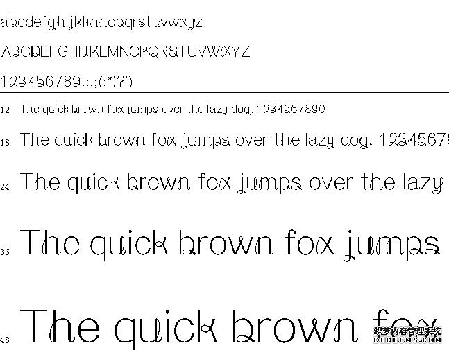 铁兰体字体预览图