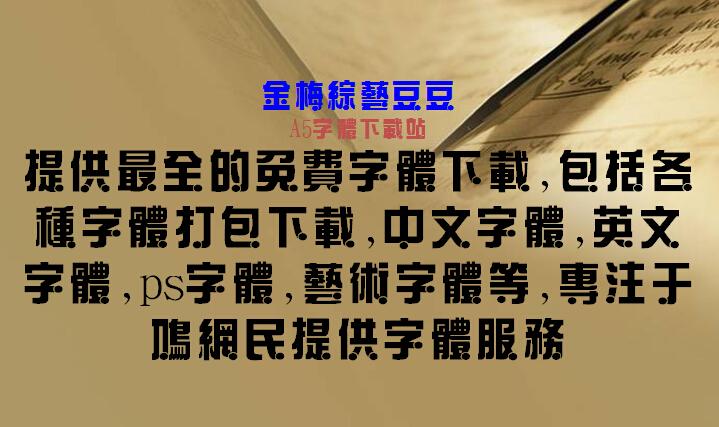 金梅综艺豆豆字体