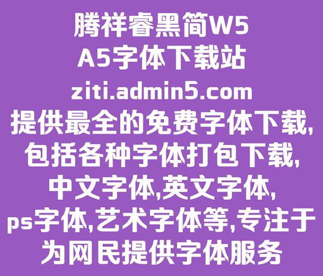 腾祥睿黑简-w5字体